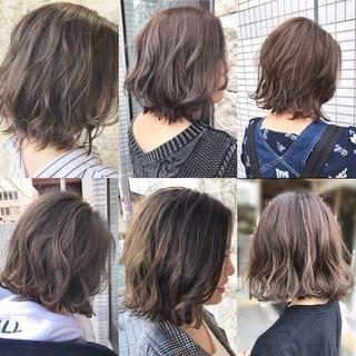 大人女子 外国人風 ボブ デート ヘアスタイルや髪型の写真・画像