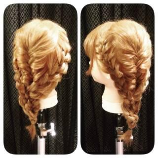 ゆるふわ ヘアアレンジ ナチュラル 編み込み ヘアスタイルや髪型の写真・画像