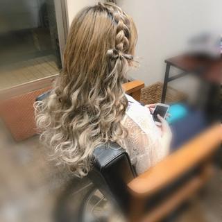ヘアセット ガーリー リボンアレンジ ロング ヘアスタイルや髪型の写真・画像