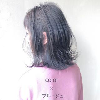 ツヤ髪 ハイトーンカラー ナチュラル デート ヘアスタイルや髪型の写真・画像