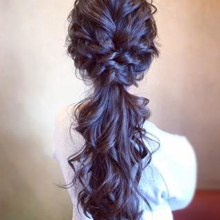 結婚式 簡単ヘアアレンジ ポニーテール お呼ばれ ヘアスタイルや髪型の写真・画像 ヘアスタイルや髪型の写真・画像