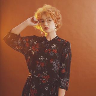 透明感 ヘアアレンジ 秋 ボブ ヘアスタイルや髪型の写真・画像
