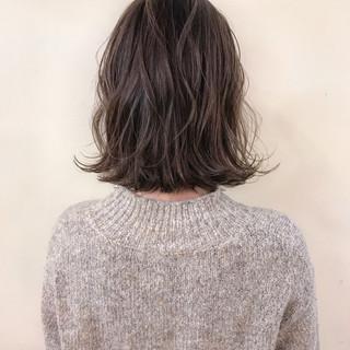 大人かわいい ナチュラル ハイライト ボブ ヘアスタイルや髪型の写真・画像