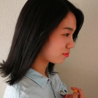 ダークトーン ボブ ナチュラル ヘアカラー ヘアスタイルや髪型の写真・画像