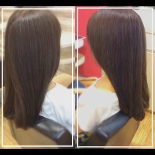 ナチュラル デザインカラー ロング 髪質改善 ヘアスタイルや髪型の写真・画像