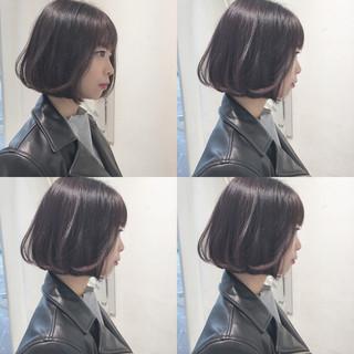 切りっぱなし ガーリー シースルーバング ショート ヘアスタイルや髪型の写真・画像