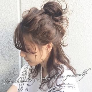 ヘアアレンジ セミロング 大人かわいい 大人女子 ヘアスタイルや髪型の写真・画像