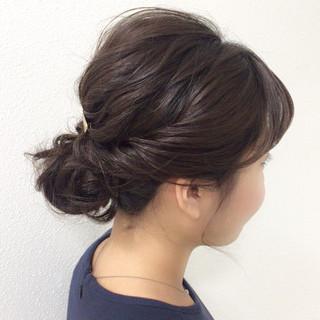 謝恩会 結婚式 成人式 ミディアム ヘアスタイルや髪型の写真・画像