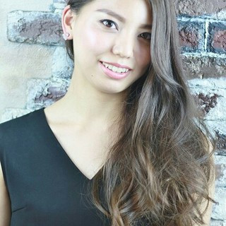 アッシュ コンサバ フェミニン ロング ヘアスタイルや髪型の写真・画像