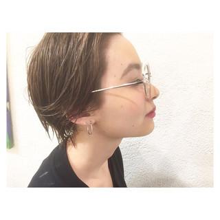 外国人風 ブラウン ピュア アッシュ ヘアスタイルや髪型の写真・画像