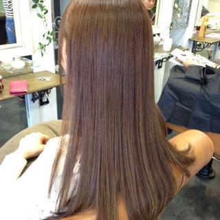 ガーリー 透明感 ロング グレー ヘアスタイルや髪型の写真・画像