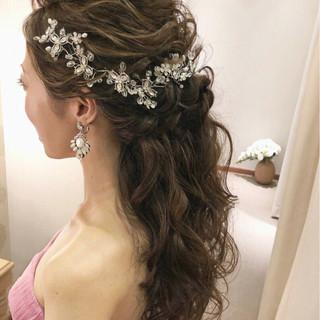 ヘアアレンジ パーティ 上品 結婚式 ヘアスタイルや髪型の写真・画像