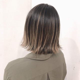 ボブ 透明感 外国人風カラー ハイライト ヘアスタイルや髪型の写真・画像