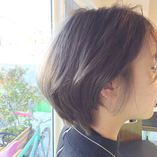 グレージュ 暗髪 ストリート グラデーションカラー ヘアスタイルや髪型の写真・画像