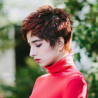 ハンサムショート ベリーショート モード PEEK-A-BOO ヘアスタイルや髪型の写真・画像