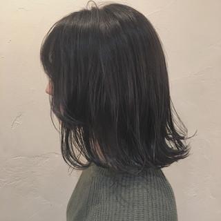 大人かわいい ボブ こなれ感 暗髪 ヘアスタイルや髪型の写真・画像