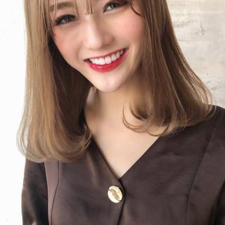 コンサバ ブリーチ 前髪 シースルーバング ヘアスタイルや髪型の写真・画像