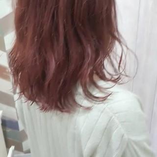 ブリーチ ダブルカラー ラベンダー ガーリー ヘアスタイルや髪型の写真・画像