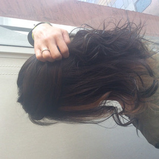ミディアム ストリート ヘアカラー インナーカラー ヘアスタイルや髪型の写真・画像