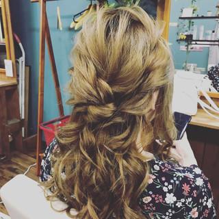 デート 結婚式 パーティ ロング ヘアスタイルや髪型の写真・画像