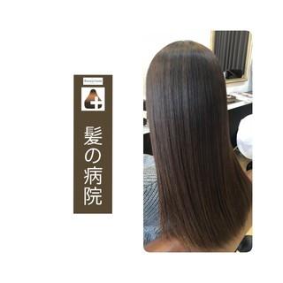 髪の病院 トリートメント 美髪 ロング ヘアスタイルや髪型の写真・画像