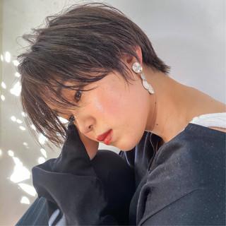 小顔ショート ショートヘア 大人かわいい 春スタイル ヘアスタイルや髪型の写真・画像