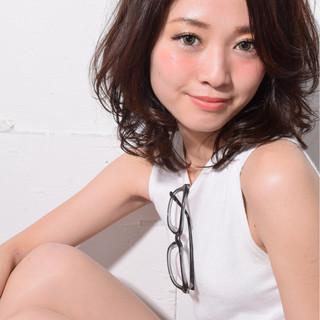 ミディアム コンサバ 色気 大人女子 ヘアスタイルや髪型の写真・画像