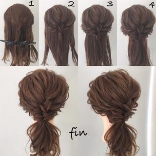 結婚式 簡単ヘアアレンジ ゆるふわ ウェーブ ヘアスタイルや髪型の写真・画像 ヘアスタイルや髪型の写真・画像