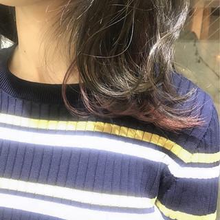 フェミニン ミディアム 抜け感 グラデーションカラー ヘアスタイルや髪型の写真・画像 ヘアスタイルや髪型の写真・画像