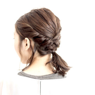 ヘアアレンジ ショート アッシュ ミディアム ヘアスタイルや髪型の写真・画像