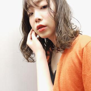 前髪 シースルーバング 大人かわいい パーマ ヘアスタイルや髪型の写真・画像