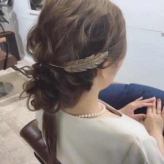 アッシュ セミロング 渋谷系 ゆるふわ ヘアスタイルや髪型の写真・画像