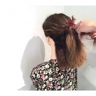 女子会 涼しげ フェミニン ヘアアレンジ ヘアスタイルや髪型の写真・画像