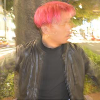グラデーションカラー ピンク ラフ モード ヘアスタイルや髪型の写真・画像