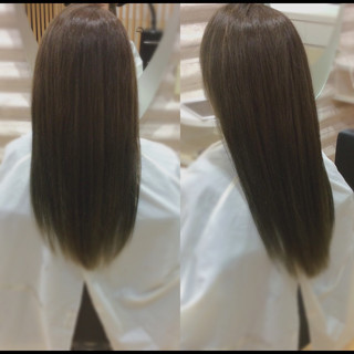 ロング 髪質改善カラー ヘアケア 髪質改善 ヘアスタイルや髪型の写真・画像