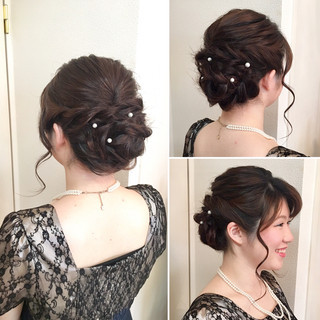 結婚式 ねじり ルーズ フェミニン ヘアスタイルや髪型の写真・画像 ヘアスタイルや髪型の写真・画像