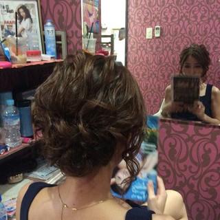 ミディアム 和装 結婚式 編み込み ヘアスタイルや髪型の写真・画像