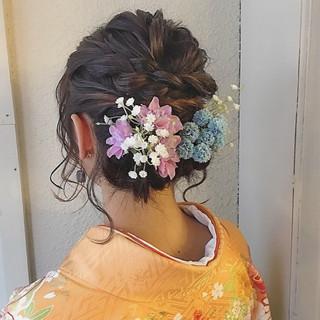 ナチュラル 簡単ヘアアレンジ ヘアアレンジ 謝恩会 ヘアスタイルや髪型の写真・画像