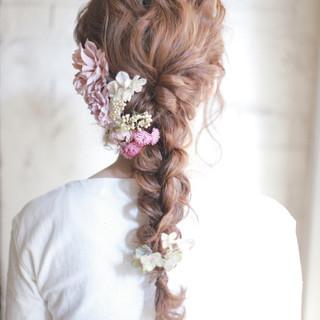 大人かわいい 結婚式 パーティ 成人式 ヘアスタイルや髪型の写真・画像