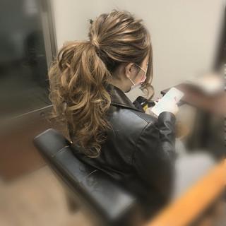 ヘアセット ポニーテールアレンジ ポニーテール アップスタイル ヘアスタイルや髪型の写真・画像