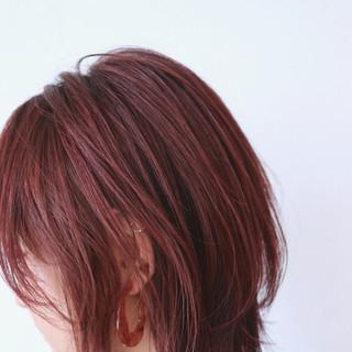 ボブ ストリート ピンク ベリーピンク ヘアスタイルや髪型の写真・画像