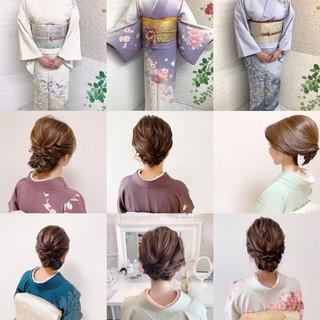 和装ヘア エレガント お呼ばれ 結婚式 ヘアスタイルや髪型の写真・画像