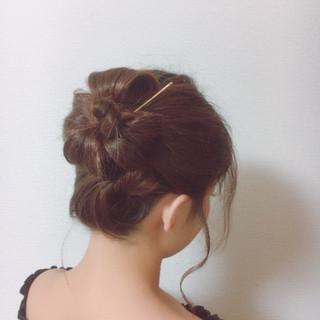 和服 ヘアアレンジ 夏 花火大会 ヘアスタイルや髪型の写真・画像