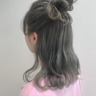 大人かわいい 夏 涼しげ セミロング ヘアスタイルや髪型の写真・画像