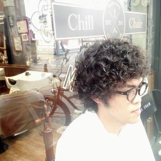 スパイラルパーマ ショート ストリート パーマ ヘアスタイルや髪型の写真・画像