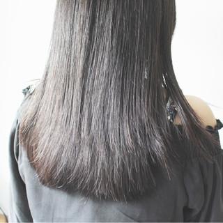 ナチュラル ロング 大人女子 縮毛矯正 ヘアスタイルや髪型の写真・画像