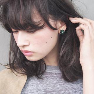 黒髪 ナチュラル 大人女子 ニュアンス ヘアスタイルや髪型の写真・画像