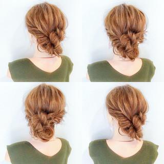 涼しげ フェミニン 簡単ヘアアレンジ ロング ヘアスタイルや髪型の写真・画像