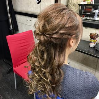 フェミニン ヘアカラー 成人式 ロング ヘアスタイルや髪型の写真・画像
