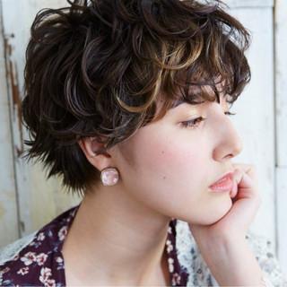 ウェットヘア ナチュラル 涼しげ ショート ヘアスタイルや髪型の写真・画像 ヘアスタイルや髪型の写真・画像